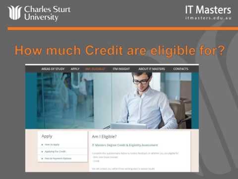IT Masters and Charles Sturt University Credit & Admissions