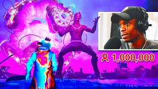 Travis Scott Reacts To His Fortnite Live Event Concert!