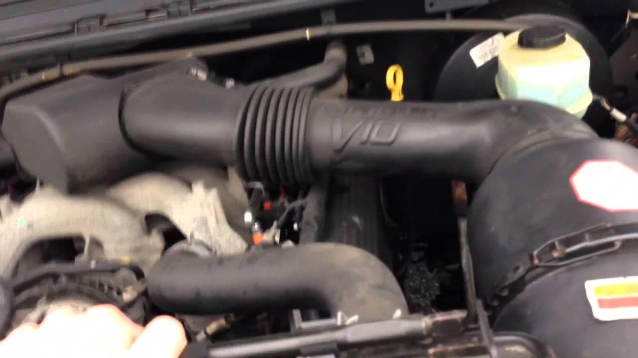 F350 V10 won't start replacing cam shaft sensor  F V Fuel Filter on