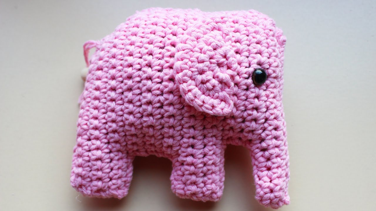 Amigurumi Elephant Pattern : Crochet elephant amigurumi youtube