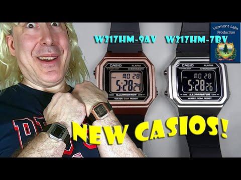 Casio W217HM-9AV (Bronze) Versus Casio W217HM-7BV (Inverted Display)