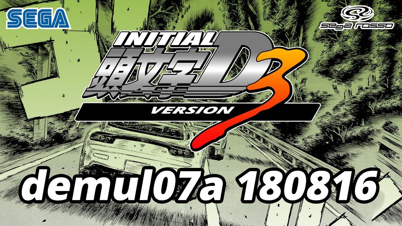 Initial D Arcade Stage Ver 3 - Demul 0 7 Alpha 180816 + Tutorial