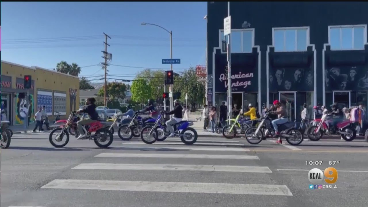 Police Crackdown On Motorcycle Sideshows In Fairfax District
