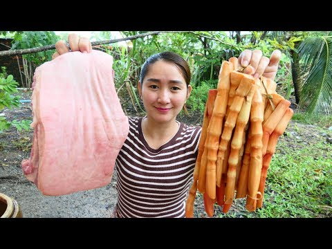 Yummy Pork Stew Cooking With Wild Bamboo Shoot Recipe - Pork Stew Cooking - Cooking With Sros
