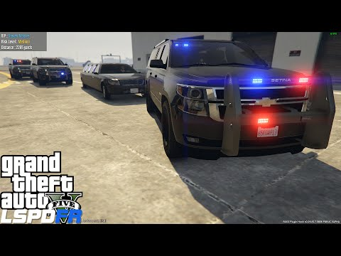 GTA 5 LSPDFR Ep 70 | LSPS Los Santos Protection Squad Mod | Escorting VIP's & High Level Prisoners