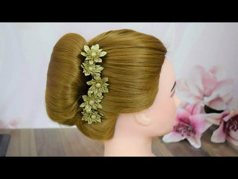 EASY FRENCH ROLL HAIRSTYLE FOR SHORT HAIR||2 MINUTE FRENCH BUN