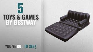 Top 10 Bestway Toys & Games [2018]: Bestway Multi-Functional Couch, Black with Air Pump
