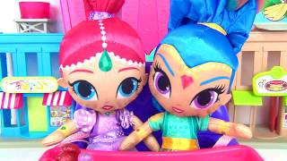 Shimmer & Shine Plush Eat M&M's & Ice Cream in High Chair | Toys Unlimited