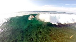 A Surfing day in Maldives - From above with DJI Phantom Drone and GoPro Hero 3+