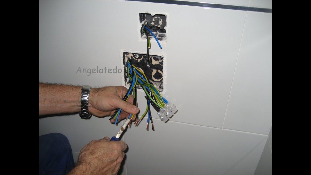 Conectar cables el ctricos con bornas pelar cables youtube - Cable instalacion electrica ...