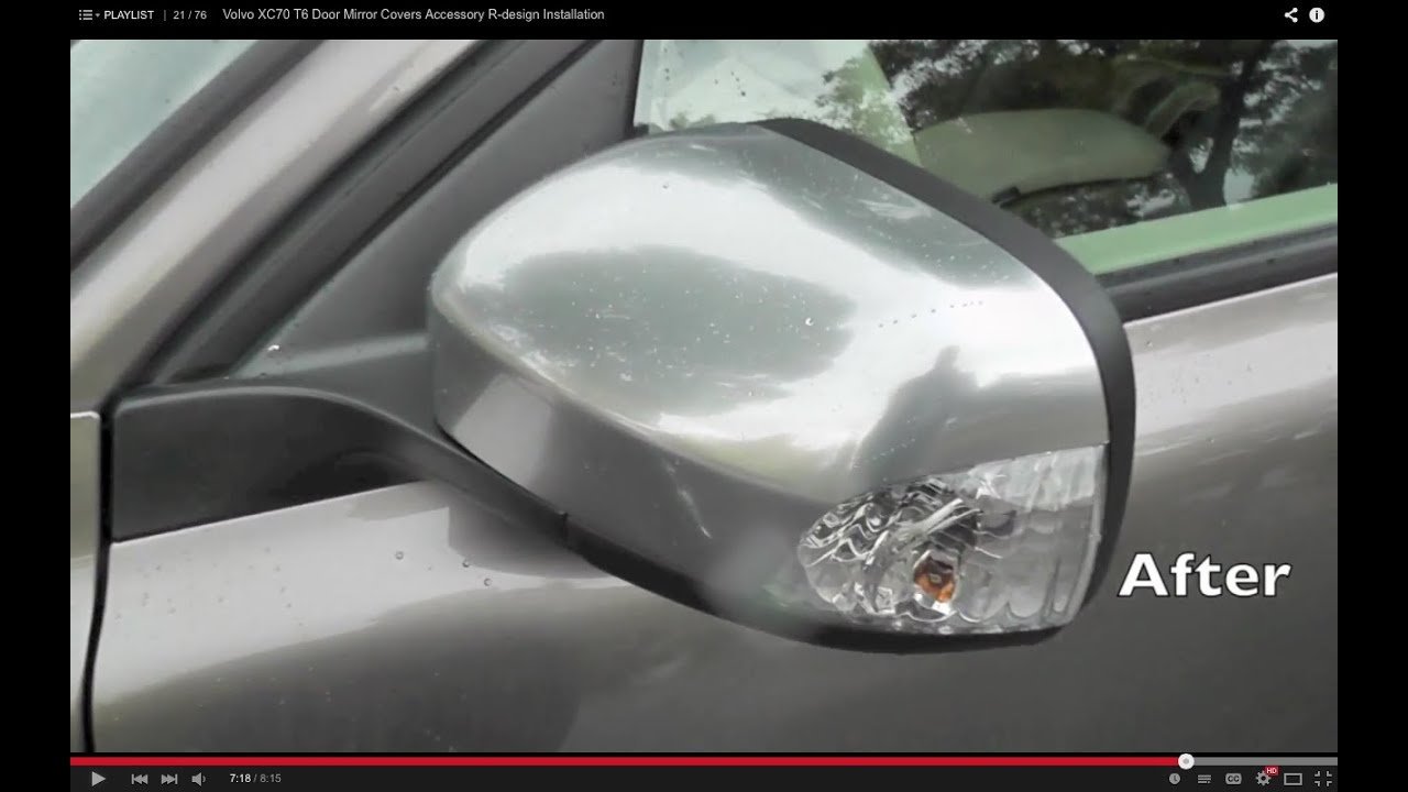 Volvo Door Mirror Covers Accessory R Design Installation