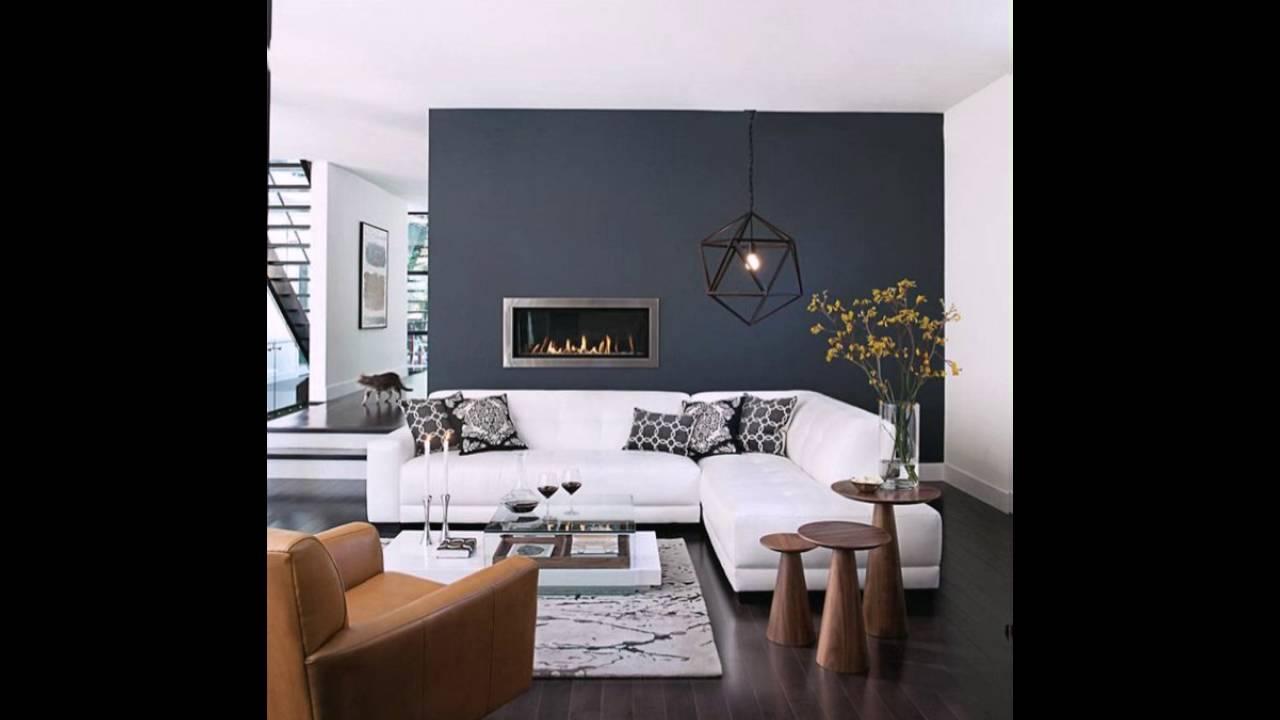 Wandfarbe anthrazit modernes modell kamin stilvolle m bel wei es sofa youtube - Anthrazit wandfarbe ...