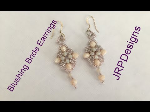 Blushing Bride Earrings-- Intermediate Beading Tutorial
