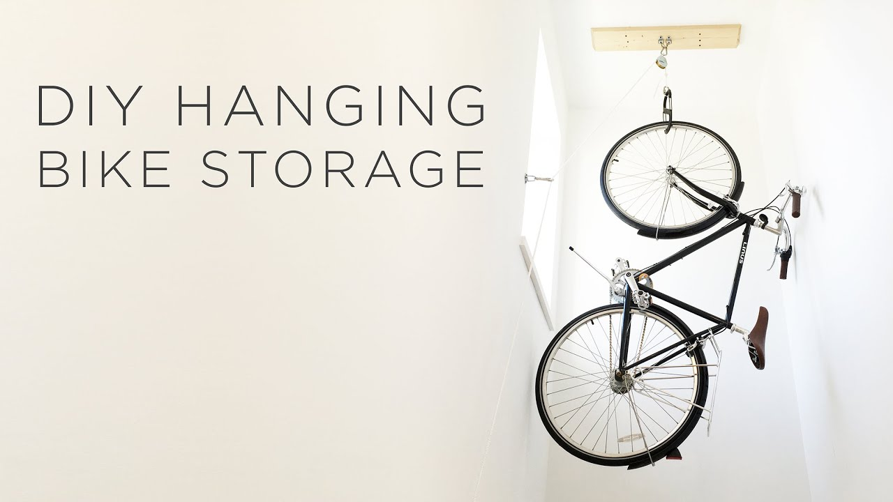 Tidy Garage Bike Rack Installation Diy Hanging Bike Storage