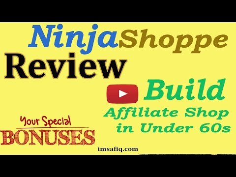 NinjaShoppe Review || How to build your own PROFITABLE, UNLIMITED Affiliate Stores With NinjaShoppe. http://bit.ly/2ZoyUtW