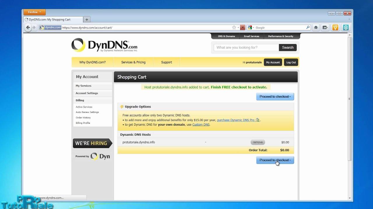 Cum se face un domeniu gratuit de la dyndns cand ai ip dinamic sau static?