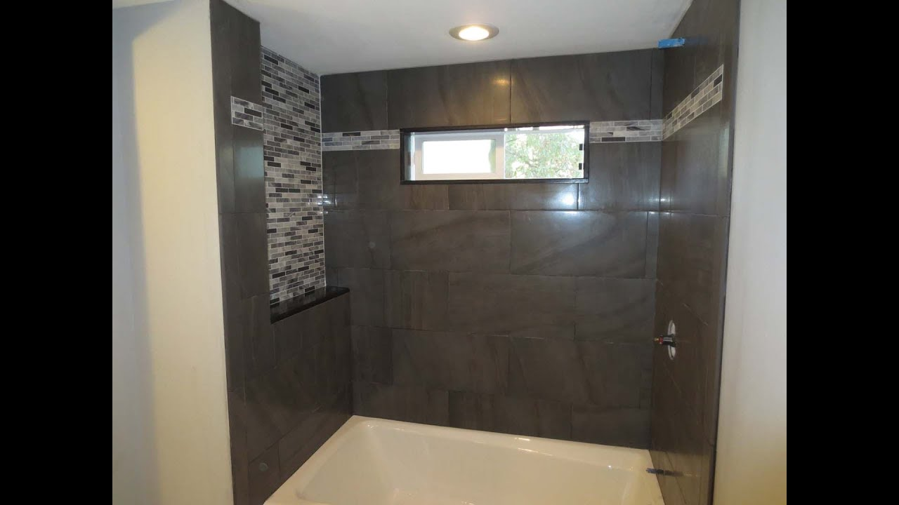 Tile bathroom tub with window time lapse  YouTube