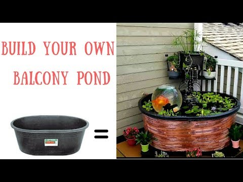 How To Set Up A Balcony Pond With DIY Waterfall/Spillway | Pond – Patio/Balcony/Condo | Add-A-Sphere