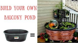 How To Set Up A Balcony Pond With DIY Waterfall/Spillway | Pond - Patio/Balcony/Condo | Add-A-Sphere