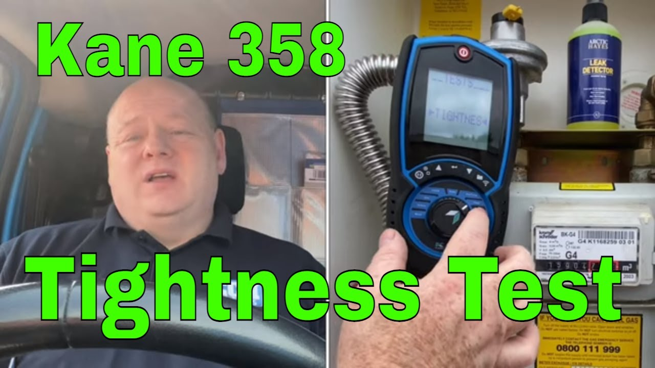 Tightness Test Gas - Using A Kane 358 Flue Gas Analyser - Gas Training