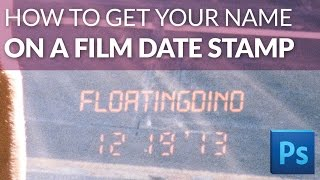 How to put your name on a film date stamp