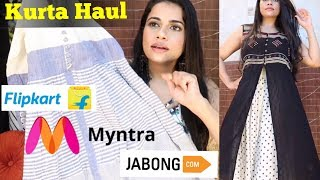 KURTA / MAXI DRESS HAUL Under ₹1000 | Myntra - JABONG - Flipkart | Sana K
