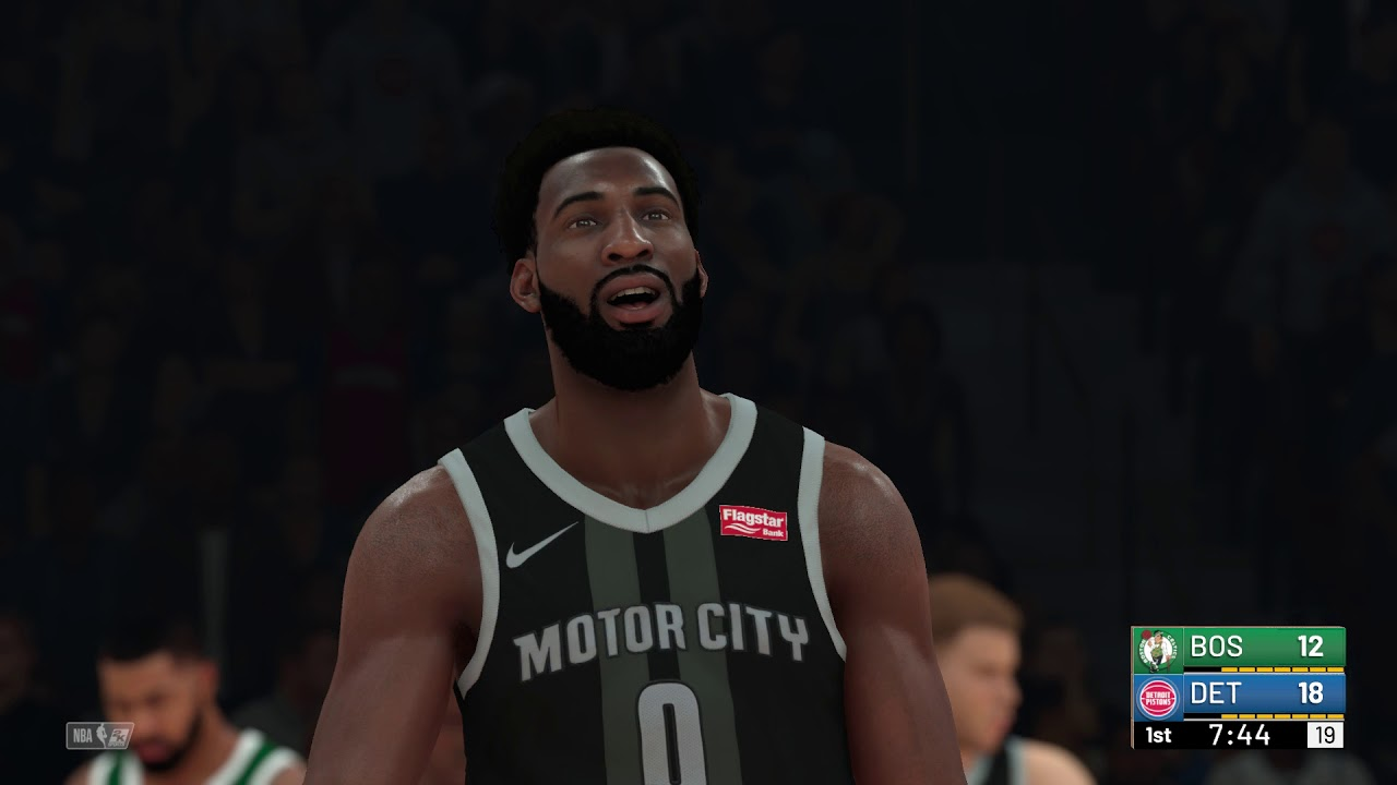 quality design f1bb5 969b0 NBA 2K19 - Boston Celtics vs Detroit Pistons (City Jerseys)