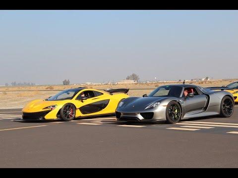 McLaren P1 vs. Porsche 918 Spyder vs. UGR TT Lamborghini Huracan