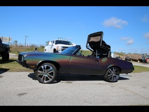 Whipaddict 72 Oldsmobile Cutl Convertible On Forgiatos Gunmetal Spectraflair Paint Lyfe