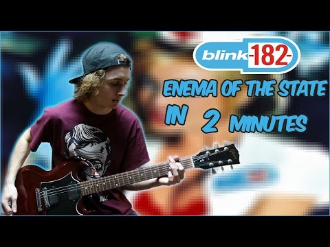 Blink-182 - Enema of the State in 2 minutes (Guitar Medley)