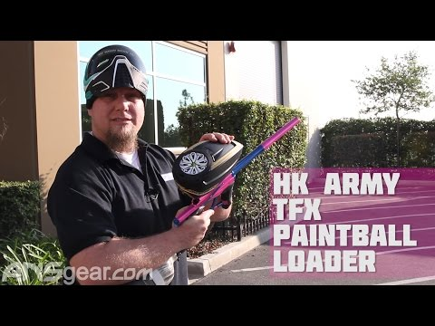 HK Army TFX Paintball Loader - Shooting Test