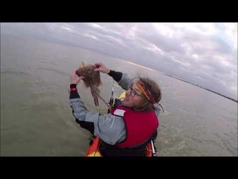 Kayak Fishing Off Frinton Looking For Skate 01/01/19