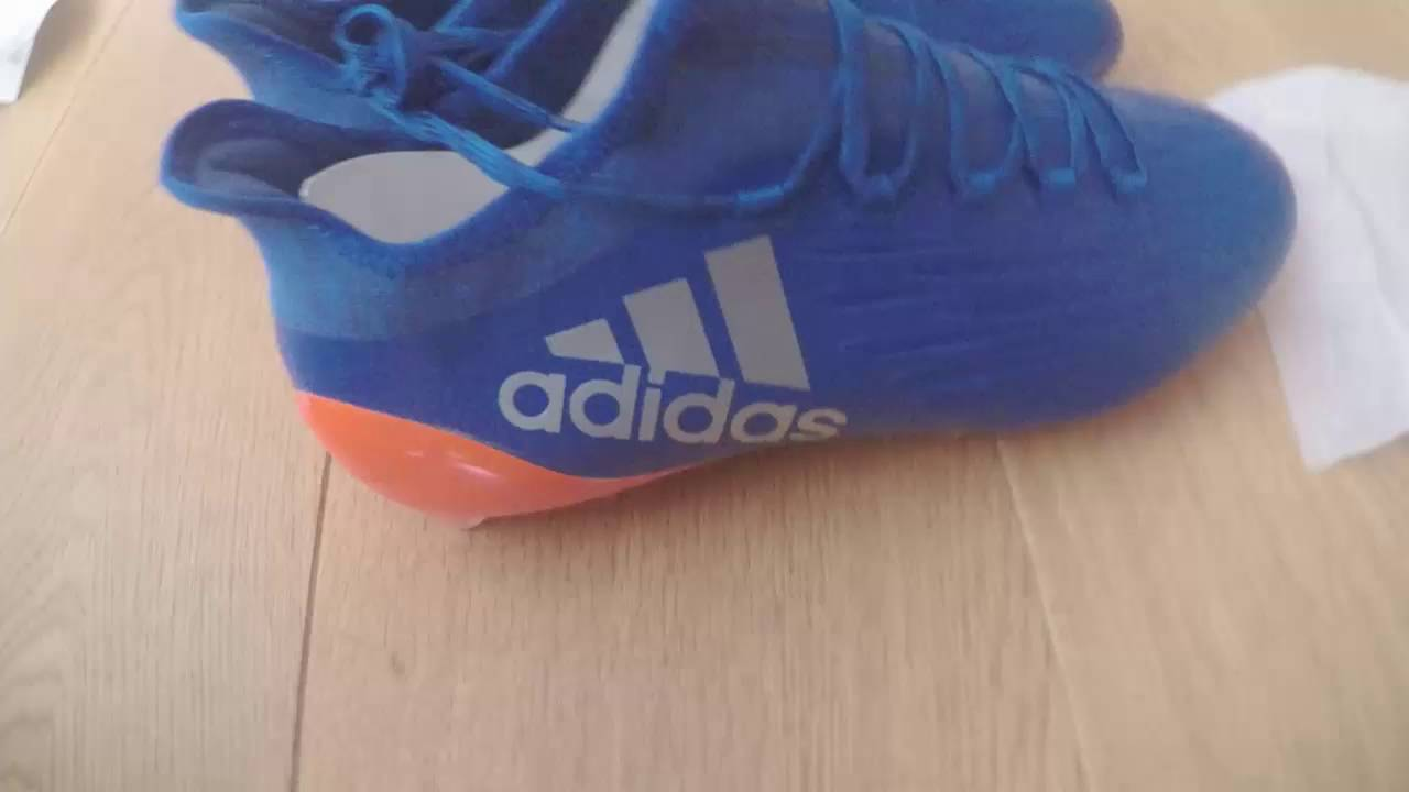 New REAL adidas X 16.1 FG Blue+Orange boot unboxing!! - YouTube 5a4180349