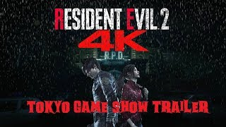 Resident Evil 2 | Tokyo Game Show 2018 4K Ultra HD NEW Story Trailer Leon and Claire