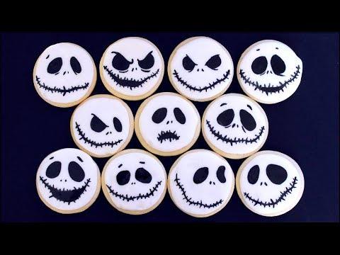 Jack Skellington Cookies for Halloween!!! - YouTube
