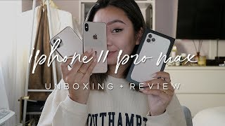 IPHONE 11 PRO MAX: UNBOXING + REVIEW | ALYSSA LENORE