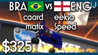 Brazil vs England | $325 2v2 Rocket League