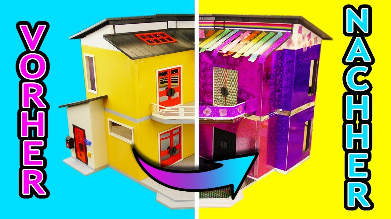 Pimp my Playmobil Luxusvilla | MEGA Playmobil MAKE OVER | Pinkes Playmobil Haus | DIY für Kinder