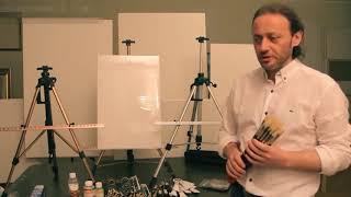 Кисти Колос Милк , Набор начинающего художника Видео уроки по рисованию Художник Игорь Сахаров 1