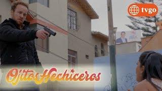 ¡Joao le dispara a Estrella por interponerse en su trabajo! - Ojitos Hechiceros 11/07/2018