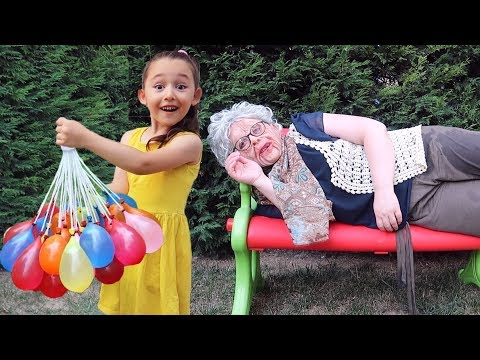 Grandma funny on, Kid Family Fun - Hide and Seek - Oyuncak Avı Öykü