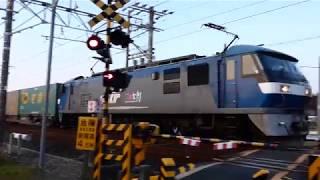 2019/03/12 JR貨物 朝6時台 54レ 1068レ(120fps) 1055レ(120fps) 大谷川踏切
