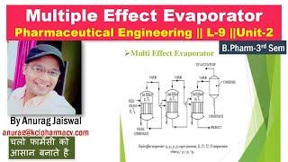 Baixar Multiple Effect Evaporator || L-9 Unit-2 Pharma. engineering