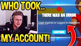 SYMFUHNY *ACCIDENTALLY* Shows FORTNITE PASSWORD then Gets *HACKED* Seconds Later!