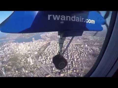 Rwandair approaching JNIA Dar-Es-Salaam, Tanzania