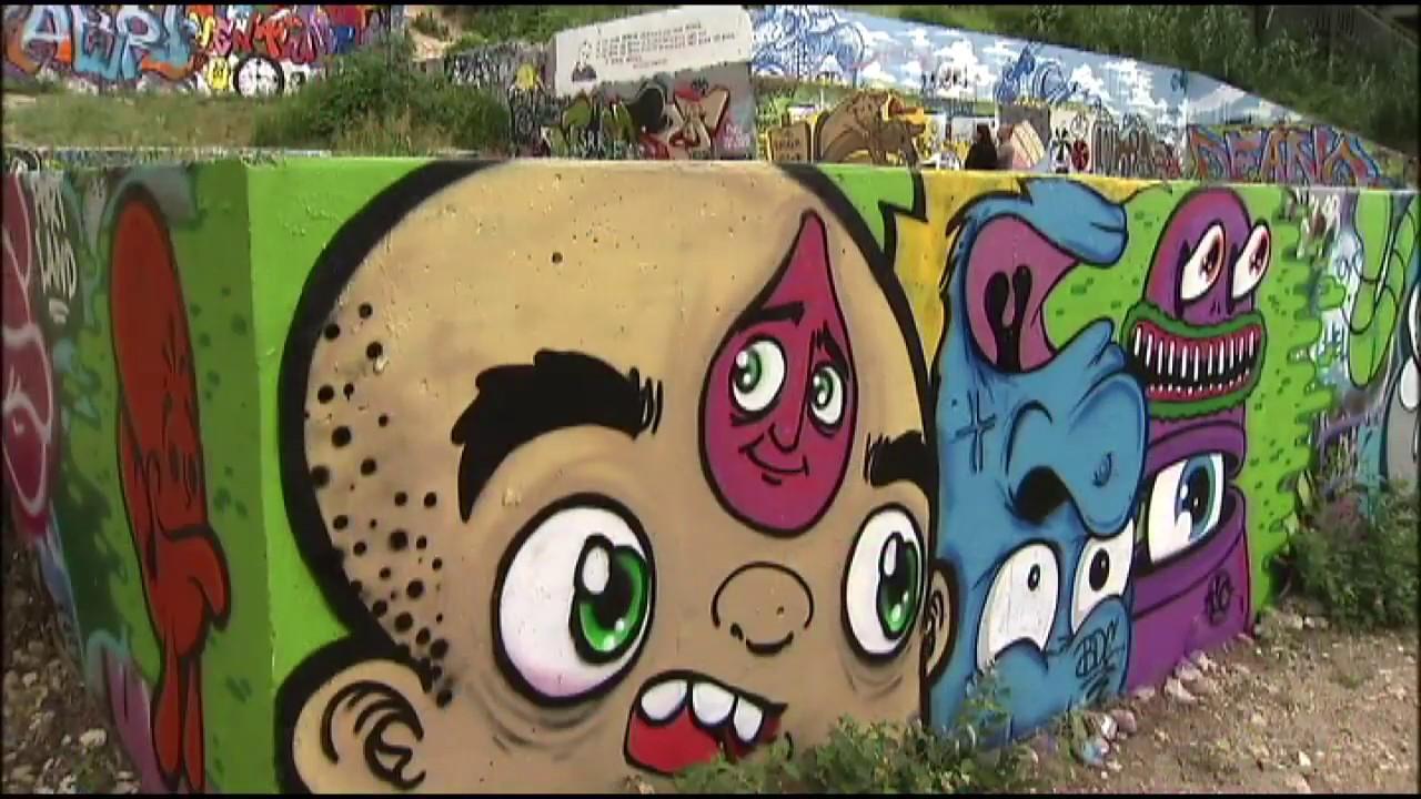 Castle Hill Graffiti Park Austin Tx 2013