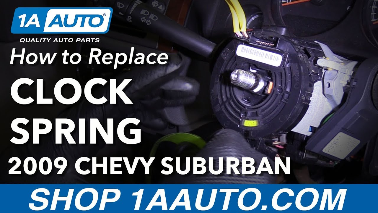 how to replace airbag clock spring 07 10 chevy suburban 1500 [ 1280 x 720 Pixel ]