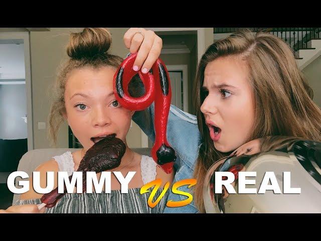 GUMMY FOOD VS REAL FOOD CHALLENGE PART 3