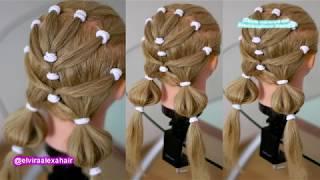 Марафон Детские причёски Видео урок 3 Причёска в детский сад и школу