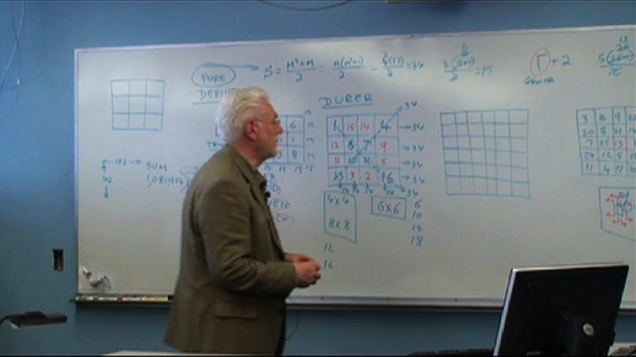 Download Magic Squares with professor Edward Brumgnach